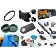 10 in 1 accessories kit: Canon 750D + 18-135MM IS STM