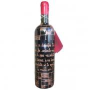 Sticla de vin cu mesaj