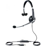 Jabra UC Voice™ 550 Mono, Noise-Cancelling, Wideband, Microphone boom: flexible, intuitive Call-Control buttons, Plug-and-Play and travel case