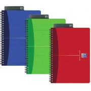 Caiet A5, spirala dubla, 90 file - 90g/mp, coperta carton, OXFORD Essentials - dictando