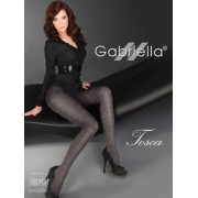 Gabriella - Opaque diamond patterned tights Tosca 60 den