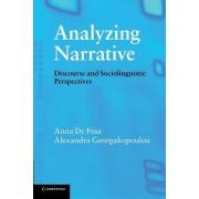 Analyzing Narrative by Anna De Fina
