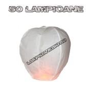 50 Lampioane Zburatoare Albe