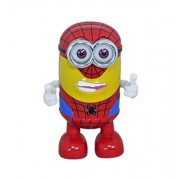 Babysid Collections Dancing Toys with Music for Baby Kids Minion Spiderman Dance and Move with Flashing Lights and Music Size : 13 x 9 x 19 cm