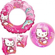 Intex Hello Kitty Kids accessories Swimming Set - Set Includes: Swim Ring (Tube) Pair of Deluxe Arm Bands Tube and Be