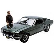 Greenlight Collezionismo - 12885 - Pronti Veicolo - Modello AT-scala - 390 Gt Ford Mustang Bullitt - Steve McQueen - Scala 1/18
