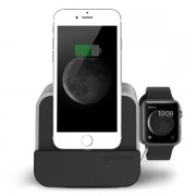 Verus i-Depot Plus Cradle - универсална док станция за iPhone, iPad, Apple Watch и мобилни устройства с microUSB (сребриста)
