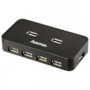 Hub USB, 7 porturi, negru, HAMA