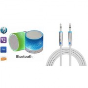 ZEMINI Music Mini Bluetooth Speaker(S10 Speaker) And Mobile AUX Cable for GIONEE ELIFE E5