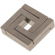 Magideal Square Iq Brain Teasers Metal Puzzle Rings Game Manipulate To Separate Gift
