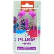Maxell Plugz with Mic - Purple