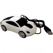 Ratón óptico ordenador coche blanco