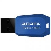 USB Stick ADATA UV100 8GB USB 2.0, Capless, Blue (AUV100-8G-RBL)