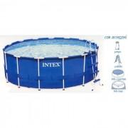 INTEX Piscina Metalframe Tonda 457x122 con Accessori