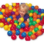 """Pack Of 100 Pcs 3"""" Soft Ball Pit Balls Phthalate Free Plastic In Bright Color"""
