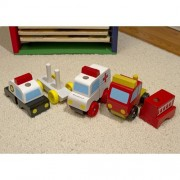 Personalized Stacking Emergency Vehicles Play Set