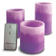 3pc R/C LED Lavender Scented Candles