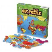 Legpuzzel - Geopuzzle Wereld | Ecotoys