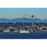 Handmade in the USA Cedar Jigsaw Puzzle - Features Seattle Skyline and Space Needle