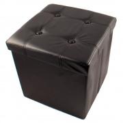 Összecsukható ülőkés tároló, fekete