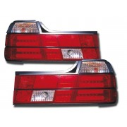 Stopuri cu LED BMW Seria 7 Sedan E32 88-92 clar/rosu
