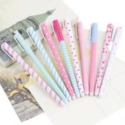 10 Pcs Lovely Korean Style Stationery Watercolor Pen Gel Pens Set Color Kandelia AIYY