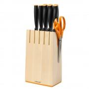 Комплект ножове Functional Form, 5 бр. + поставка, 1014211-102637, FISKARS