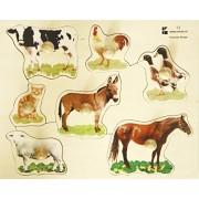 Edushape Large Knob Puzzle, Farm Animal