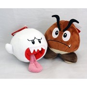 "2pcs Set Super Mario Plush Toy Doll 6""Boo Ghost & 5""Goomba by Vegas-baby"