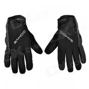 SAHOO Outdoor Cycling Anti-Slip Windproof Full Finger Warm Gloves - Black (Size XL)