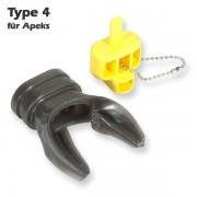 Seacure Mundstück X-Typ 4 für Apeks - in warmen Wasser formbar