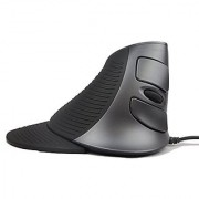 J-Tech Digital ? Scroll Endurance Wired Mouse Ergonomic Vertical USB Mouse with Adjustable Sensitivity (600/1000/1600 DPI) Removable Palm Rest & Thumb Buttons - Reduces Hand/Wrist Pain (Wired)