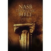 NASB, Thinline Bible, Large Print, Hardcover, Red Letter Edition by Zondervan