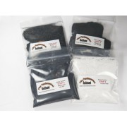 Fundamental Rockhound Products: TWO 4 Step Rock Tumbling GRIT KIT for tumble polishing rocks for 3 p