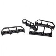 Lego Parts: Modified Plate 1 x 6 with Train Wagon End Black 4 Count