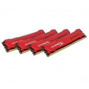 HyperX Savage - 32 Go (4 x 8 Go) DDR3-1600 PC3-12800 CL9 (HX316C9SRK4/32) - Mémoire PC