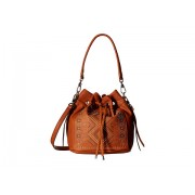 Chinese Laundry Emmanuelle Pinstud Single Handle Bucket Bag w Adjustable Strap Cognac