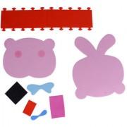 Magideal Kids Diy Handmade Rabbit Pen Container Holder Desktop Organizer Craft Kits