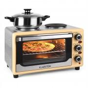Klarstein Omnichef 23HC Horno 2 placas de cocción 1500W crema