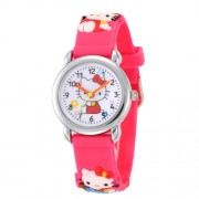 WoMaGe Hello Kitty-s gyermek óra rózsaszín szíjjal