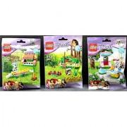 LEGO Friends Set Series 2 Bundle Set of 3 Hedgehog Poodle and Bunny (41020 41021 41022)
