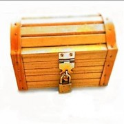 Wooden Treasure Chest With A Working Lock And A Pair of Keys Great For Kids To Explore Their Imagination Have An Imaginary Pirate Adventure Store Keepsakes Or Turn It Into A Fun Kids Craft