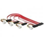 Delock Cable SAS 32pin to 4x SAS 29 pin (SFF 8484 SFF 8482 + Power) 50cm 83051