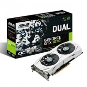 Placa video ASUS Dual GeForce GTX 1070 OC, 1607 (1797) MHz, 8GB GDDR5, 256-bit, DVI-D, 2x HDMI, 2x DP, DUAL-GTX1070-O8G