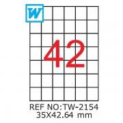 Etichete A4 , 35 x 42,64mm , Set 100 buc