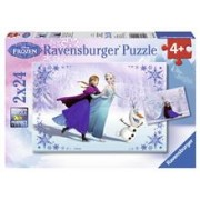 Puzzle Frozen Surori Pentru Totdeauna, 2X24 Piese