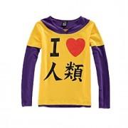 Inspirado por No Game No Life Fantasias Anime Fantasias de Cosplay Hoodies cosplay Estampado Amarelo / Púrpura Manga Comprida