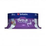 DVD+R 16x Verbatim Printable WIDE ID tarrina 25 uds