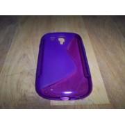 Husa silicon S-line mov pentru telefon Samsung Galaxy S3 Mini i8190 / S3 Mini VE i8200
