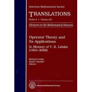 Operator Theory and Its Applications by Michael Levitin